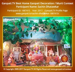 Sachin Dhatawkar Home Ganpati Picture