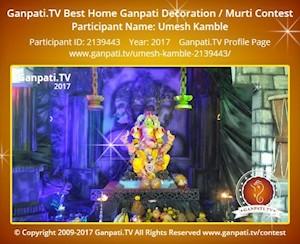Umesh Kamble Home Ganpati Picture