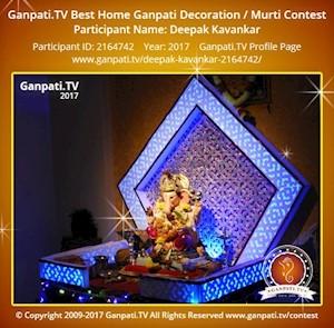 Deepak Kavankar Home Ganpati Picture