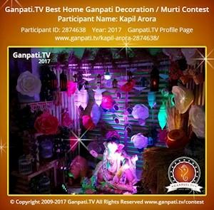 Kapil Arora Home Ganpati Picture