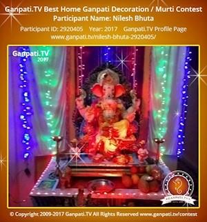 Nilesh Bhuta Home Ganpati Picture