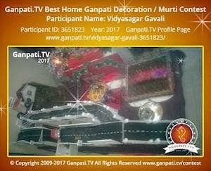 Vidyasagar Gavali Home Ganpati Picture