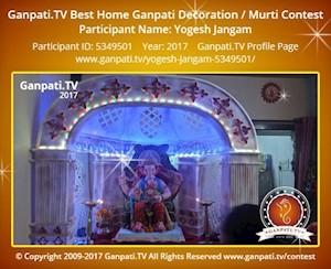 Yogesh Jangam Home Ganpati Picture