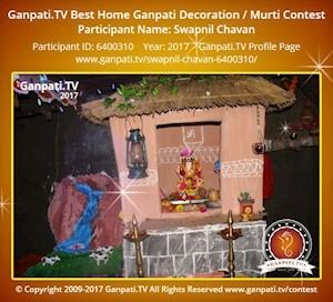 Swapnil Chavan Home Ganpati Picture