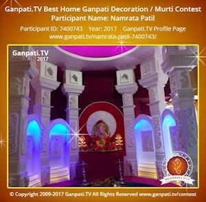 Namrata Patil Home Ganpati Picture