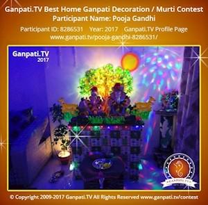 Pooja Gandhi Home Ganpati Picture